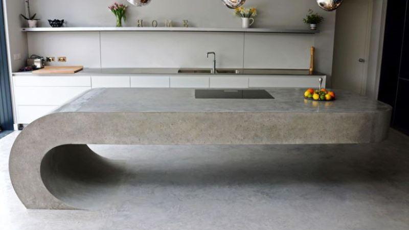 18 Creative Concrete Kitchen Island