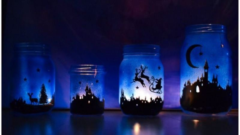 Magicial Light Mason Jar For Christmas Ideas