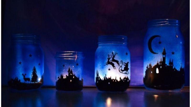 Magicial Light Mason Jar For Christmas Ideas